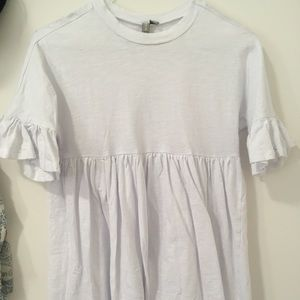 ASOS design petite cotton frill smock dress - 00